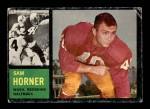 1962 Topps #167  Sam Horner  Front Thumbnail