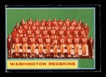 1962 Topps #175   Redskins Team Front Thumbnail