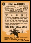 1967 Topps #81  Jim Warren  Back Thumbnail