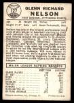1960 Leaf #127  Rocky Nelson  Back Thumbnail