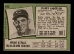 1971 Topps #688  Sparky Anderson  Back Thumbnail