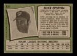 1971 Topps #655  Mike Epstein  Back Thumbnail