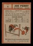 1962 Topps #4  Joe Perry  Back Thumbnail