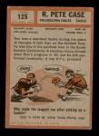 1962 Topps #125  Pete Case  Back Thumbnail