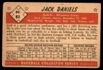 1953 Bowman #83  Jack Daniels  Back Thumbnail