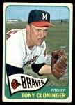1965 Topps #520  Tony Cloninger  Front Thumbnail
