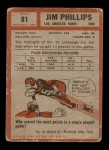 1962 Topps #81  Jim Phillips  Back Thumbnail