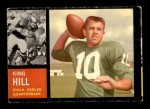 1962 Topps #123  King Hill  Front Thumbnail