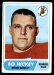 1968 Topps #17  Bo Hickey  Front Thumbnail