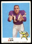 1969 Topps #217  Fred Cox  Front Thumbnail