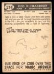 1959 Topps #174  Jess Richardson  Back Thumbnail