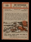 1962 Topps #109  Jim Katcavage  Back Thumbnail