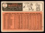 1966 Topps #557  Felix Mantilla  Back Thumbnail