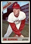 1966 Topps #435  Jim Bunning  Front Thumbnail