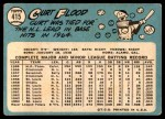 1965 Topps #415  Curt Flood  Back Thumbnail