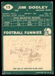 1960 Topps #15  Jim Dooley  Back Thumbnail