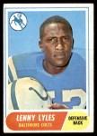 1968 Topps #213  Lenny Lyles  Front Thumbnail