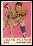 1959 Topps #67  Duane Putnam  Front Thumbnail
