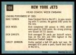1964 Topps #131   New York Jets Team Back Thumbnail