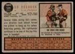 1962 Topps #535  Ed Roebuck  Back Thumbnail