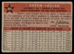1958 Topps #491   -  Sherm Lollar All-Star Back Thumbnail