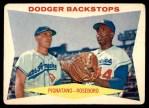 1960 Topps #292   -  Joe Pignatano / John Roseboro Dodger Backstops Front Thumbnail
