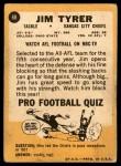 1967 Topps #68  Jim Tyrer  Back Thumbnail