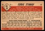 1953 Bowman #49  Eddie Stanky  Back Thumbnail
