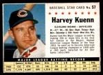 1961 Post Cereal #57 BOX Harvey Kuenn   Front Thumbnail