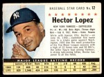1961 Post Cereal #12 COM Hector Lopez   Front Thumbnail