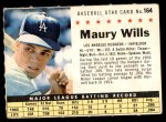 1961 Post #164 COM Maury Wills   Front Thumbnail