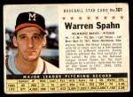 1961 Post #101 COM Warren Spahn   Front Thumbnail