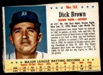 1963 Post Cereal #52  Dick Brown  Front Thumbnail