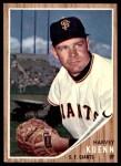 1962 Topps #480  Harvey Kuenn  Front Thumbnail