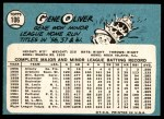 1965 Topps #106  Gene Oliver  Back Thumbnail
