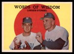 1959 Topps #383   -  Casey Stengel / Don Larson Words of Wisdom Front Thumbnail