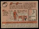 1958 Topps #118  Harvey Haddix  Back Thumbnail