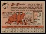 1958 Topps #123  Dick Tomanek  Back Thumbnail