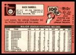 1969 Topps #531  Dick Farrell  Back Thumbnail