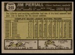 1961 Topps #345  Jimmy Piersall  Back Thumbnail