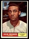 1961 Topps #329  Julio Becquer  Front Thumbnail