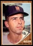 1962 Topps #324  Joe McClain  Front Thumbnail