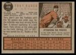 1962 Topps #430  Tony Kubek  Back Thumbnail