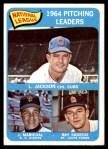 1965 Topps #10   -  Juan Marichal / Larry Jackson / Ray Sadecki NL Pitching Leaders Front Thumbnail