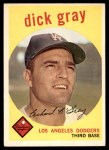 1959 Topps #244  Dick Gray  Front Thumbnail