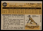 1960 Topps #394  Norm Larker  Back Thumbnail