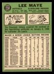 1967 Topps #258  Lee Maye  Back Thumbnail