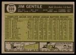 1961 Topps #559  Jim Gentile  Back Thumbnail