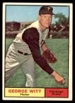 1961 Topps #286  George Witt  Front Thumbnail
