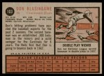 1962 Topps #103  Don Blasingame  Back Thumbnail